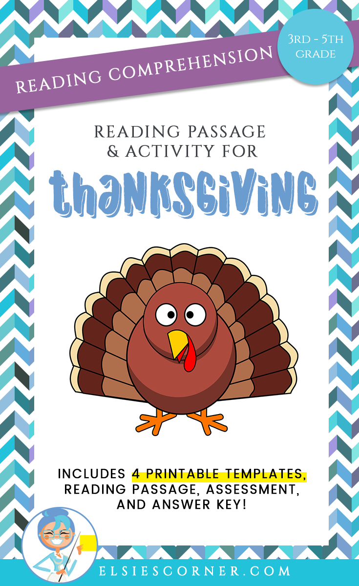 Thanksgiving Reading Comprehension Passage Assessment And Craft