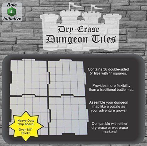 Dry Erase 5 Inch Dungeon Tiles Pack Of 36 Role 4 Initia Https Www Amazon Com Dp B016h14jfm Ref Cm Sw R Pi Dp H4g Dungeon Tiles Dungeon Wet Erase Markers