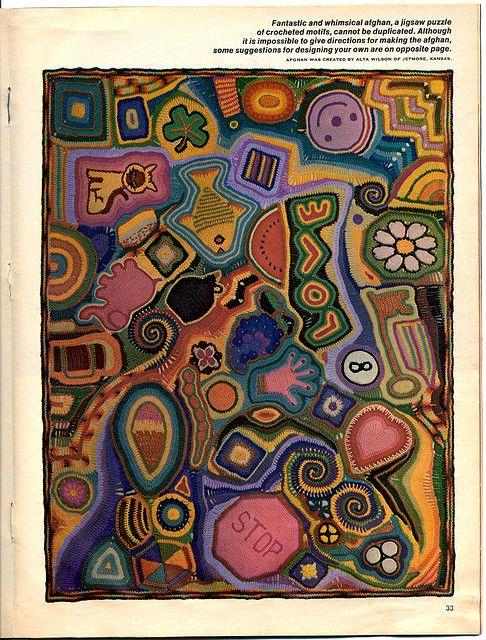 crochet_crazy_quilt | Manta, Ganchillo y Tejido