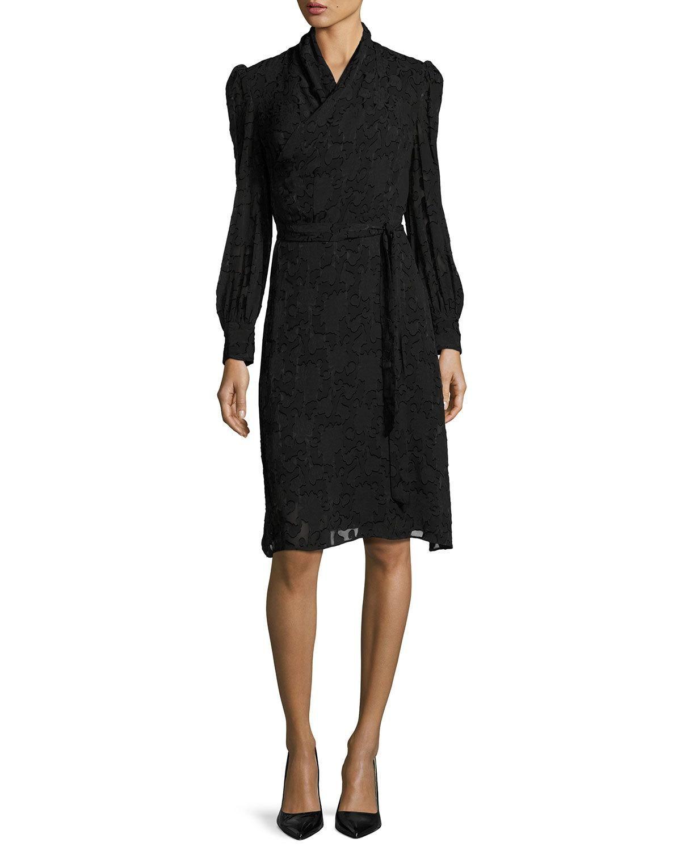 Burnout longsleeve wrap dress black wrap dresses wraps and top