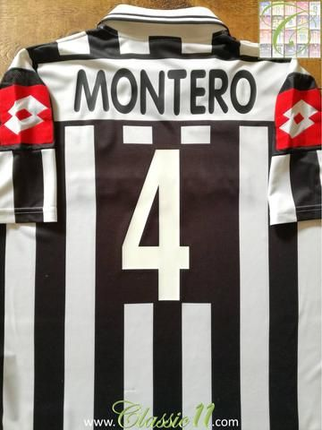 6e8ed1138 Relive Paolo Montero s 2001 2002 season with this original Lotto Juventus  home football shirt.