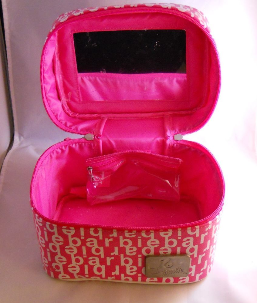 Barbie Pink & White Train Case