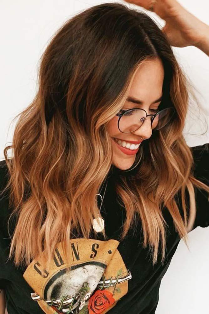 Photo of 55 Hervorgehobenes Haar für Brünette | LoveHairStyles.com –  Warme Töne auf d…