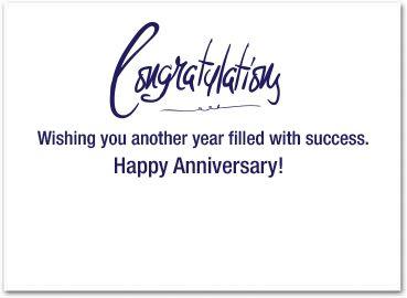 idea words to write in an work anniversary card work anniversary