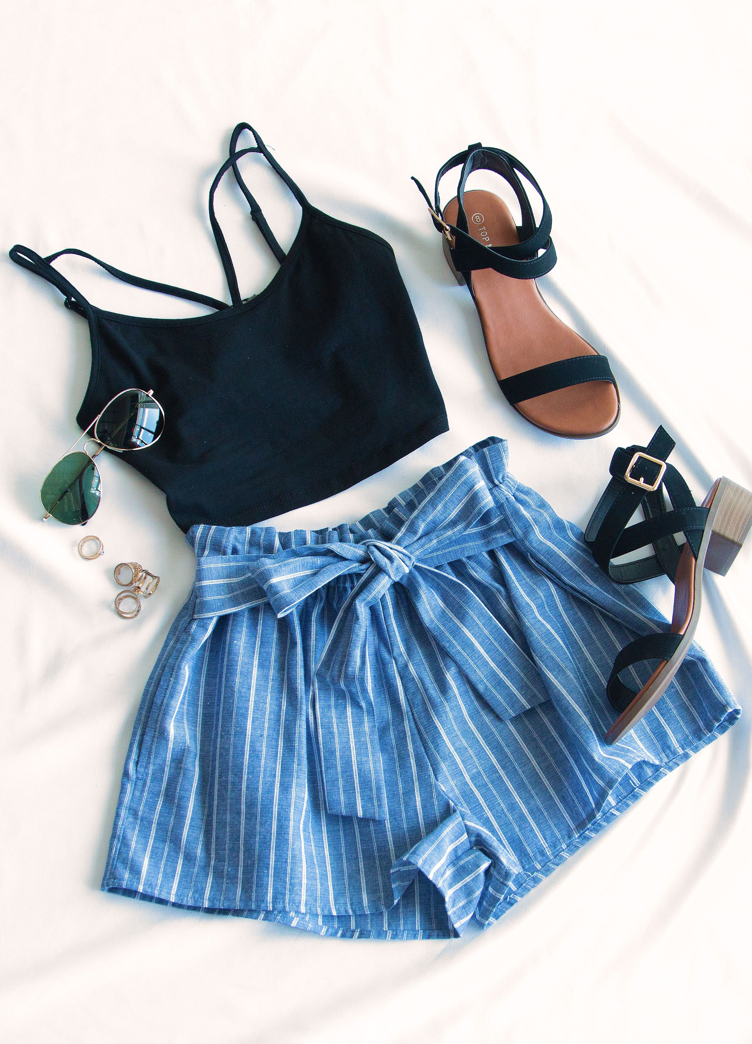 """Festive Ready Stripe Shorts  Blue is part of Simple summer outfits -  Hips 35 5""""      Email Us  Call Us   Click here to send email  US 8667451800      Hours MonFri 9am  5pm MST"""