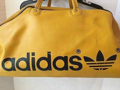 9342d2b6f605 Vtg Adidas Gym Bag Yellow Carryon Firebird Trefoil Tote Retro Duffel  Yugoslavia