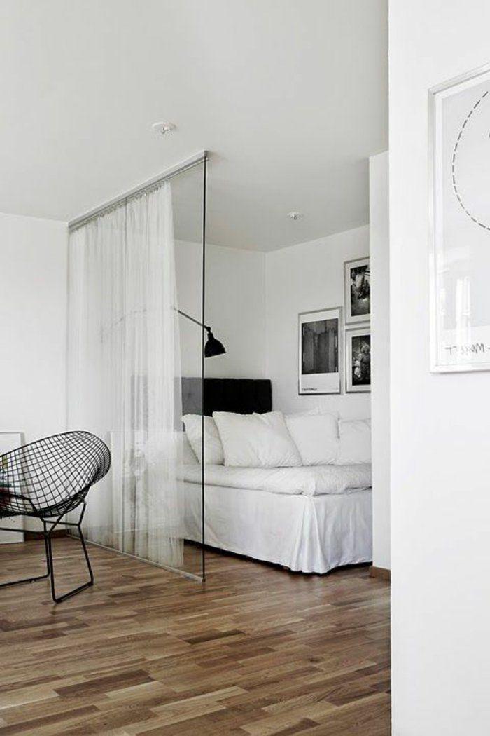 Cloisons coulissantes porte coulissante en verre sol en parquette clair b - Porte coulissante verre ...