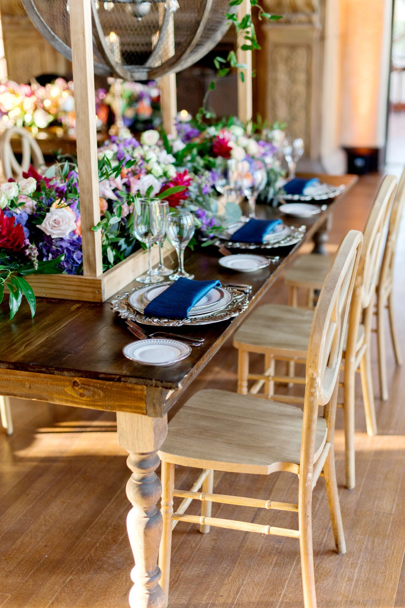 table chair rentals orlando gym ball south africa vineyard mismatched chairs wedding and party style decor floral tablescape ceremony reception colors events vendors florida