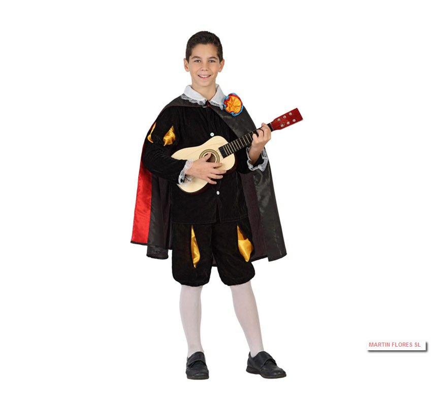 Disfraz Infantil Tuno Especial O Don Juan Tenorio Para Niño En Sevilla En Carnaval Disfraces Infantiles Disfraz Disfraces