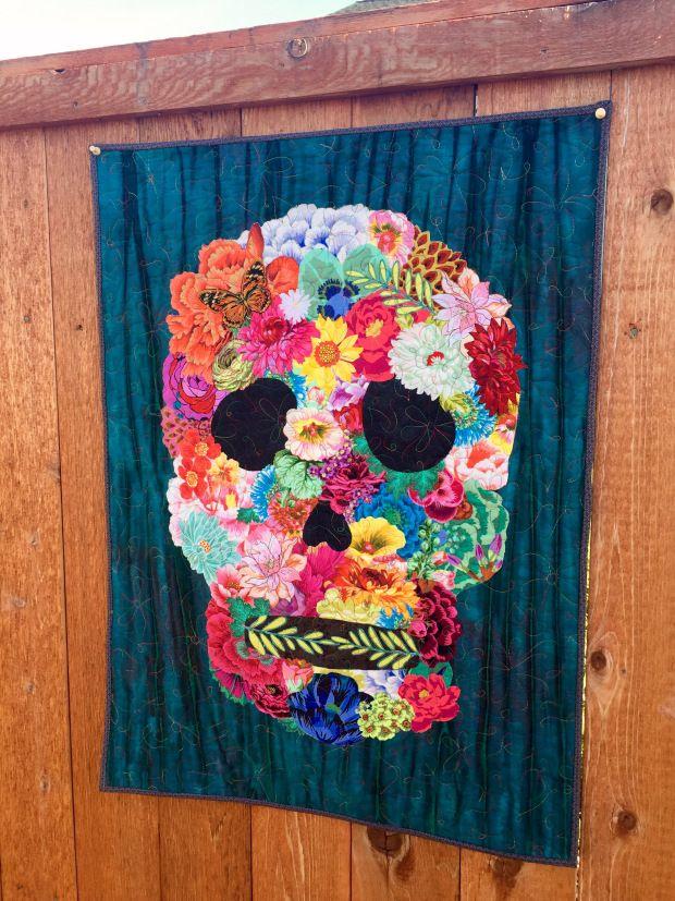 Sugar skull quilt pattern/skull art quilt pattern | Patterns and Etsy : sugar skull quilt pattern - Adamdwight.com