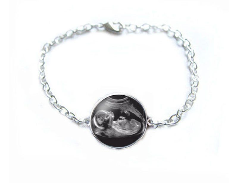Sonogram bracelet pregnancy gift birth announcement gift for new sonogram bracelet pregnancy gift birth announcement gift for new mother silver ultrasound bracelet negle Choice Image