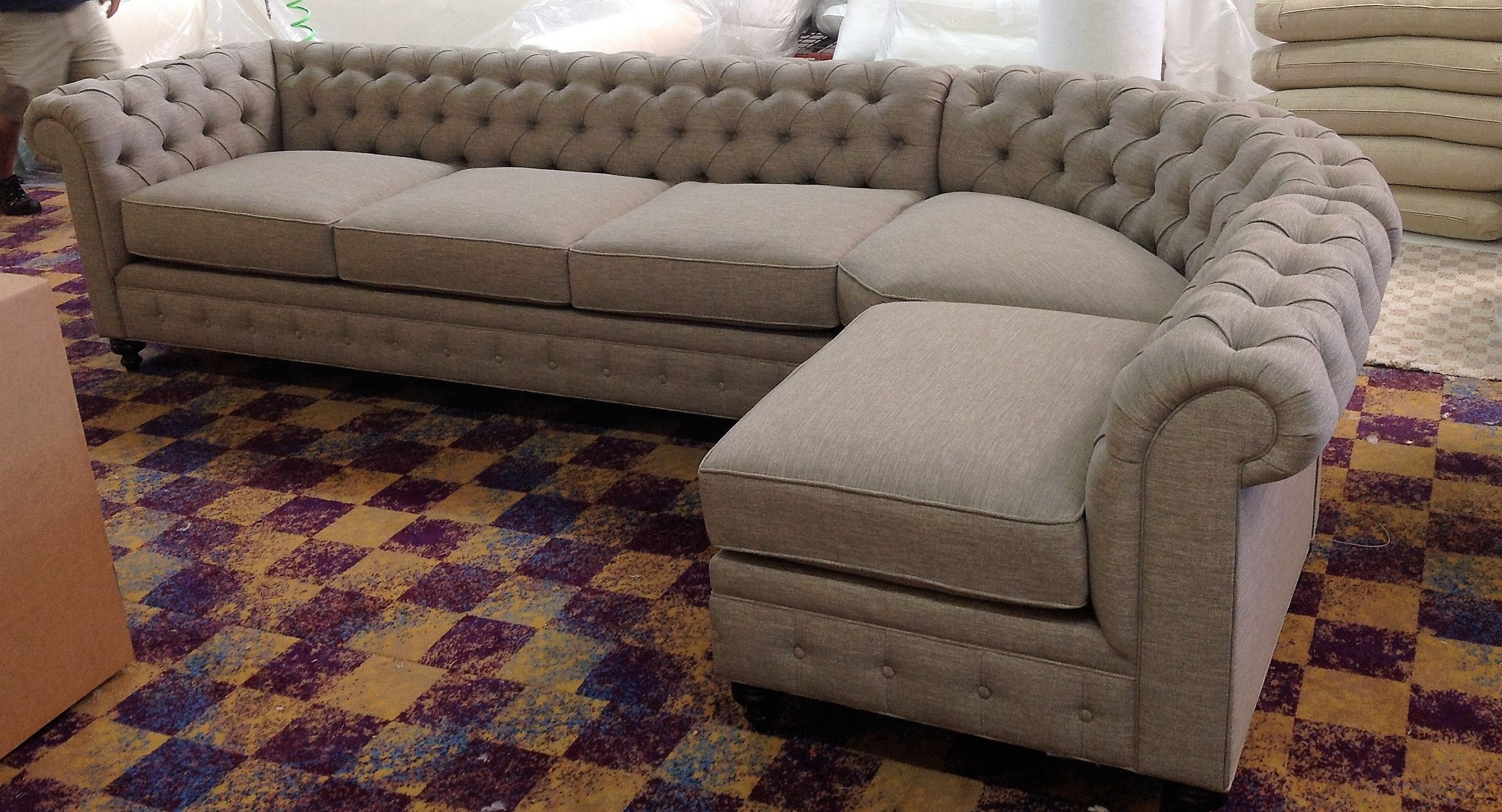 Have A Luxury Living Room With The Elegant Chesterfield Sofa