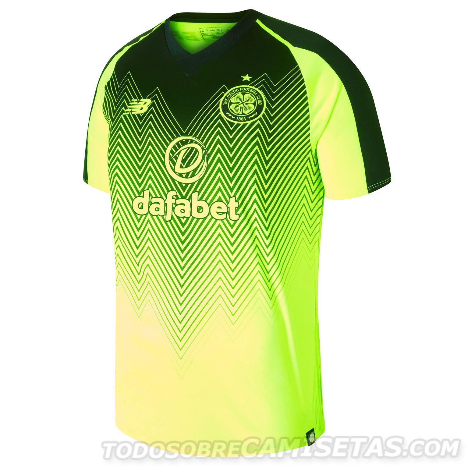 official photos 5a971 33f3b Celtic FC New Balance Third Kit 2018-19 | Sublimation ideas ...
