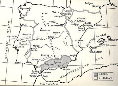 Map Of Spain 1492.1212 1492 O Callaghan Map Of Iberia Modern Day Spain Showing The