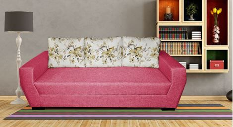 Picture Of Riviera Fabric Sofa Roze 3s