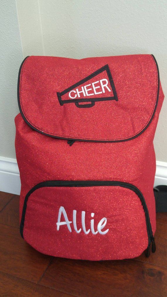 Personalized Embroidered GLITTER Backpack Cheer Bag Sports
