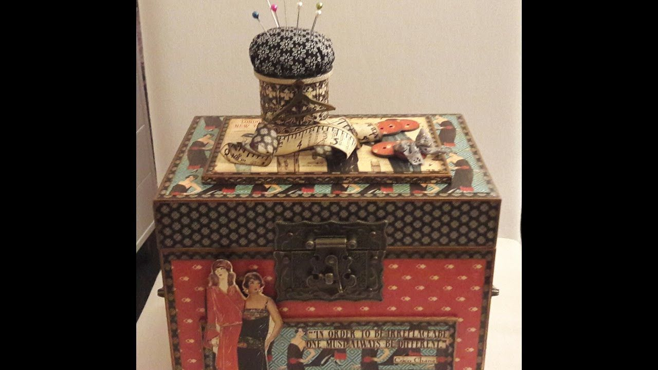 Graphic 45 Couture Sewing Box
