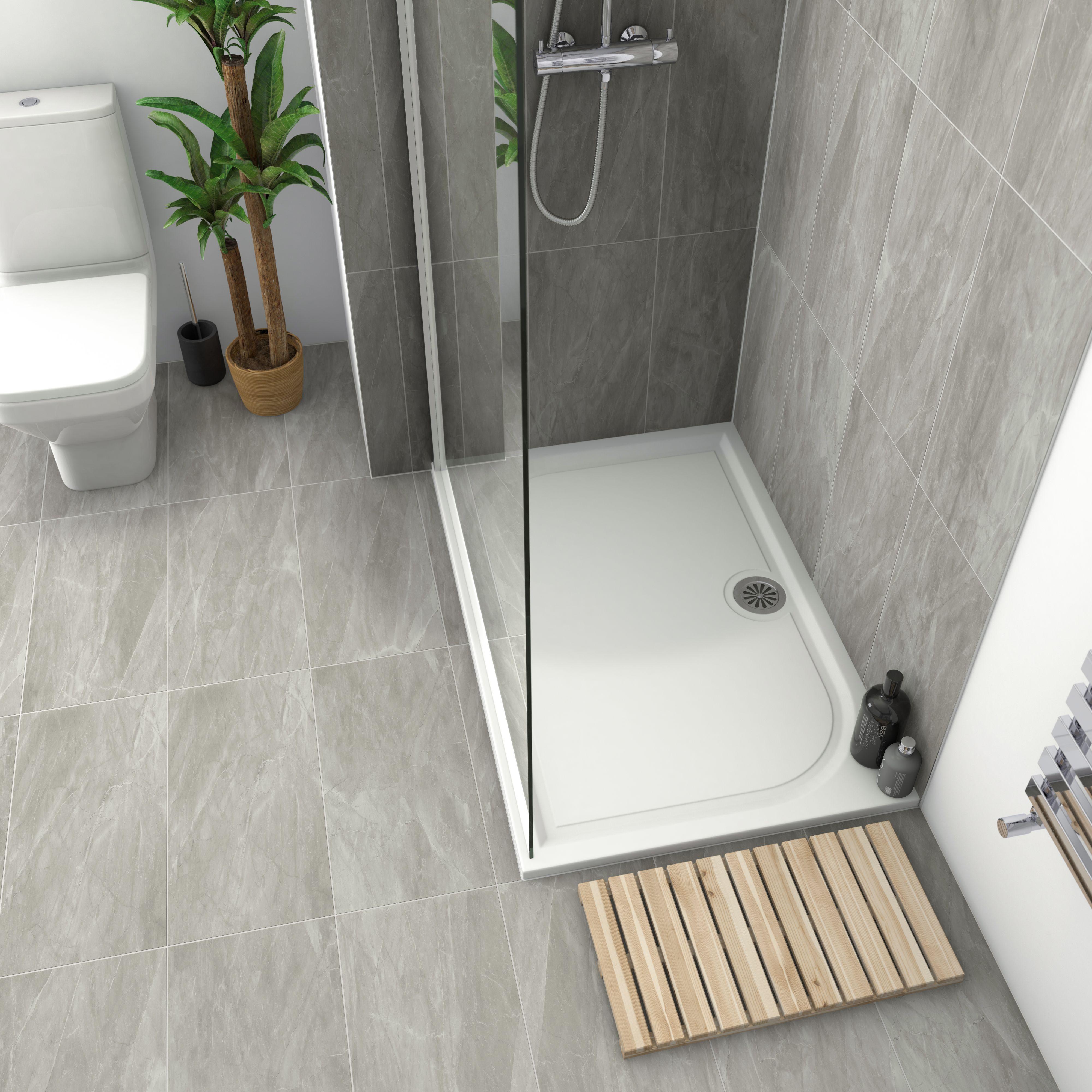 Killington Grey Matt Marble Effect Ceramic Floor Tile Pack Of 6 L