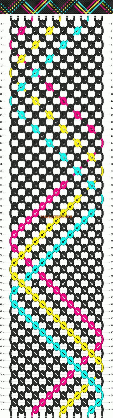 http://www.braceletbook.com/pattern_normal/10284.html .. http://www.braceletbook.com/pattern_normal/6297.html Freundschaftsarmband knüpfen