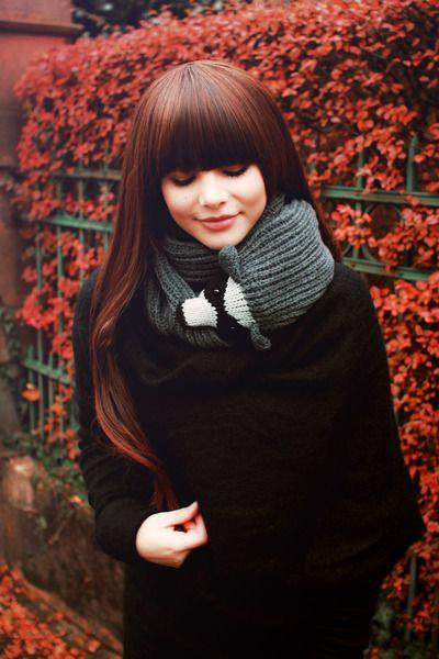 Mooi haar. Leuke sjaal.