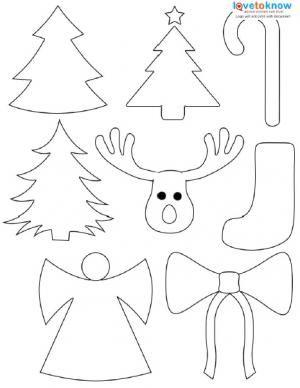Christmas Shapes.Christmas Shapes To Print Christmas Ornament Template