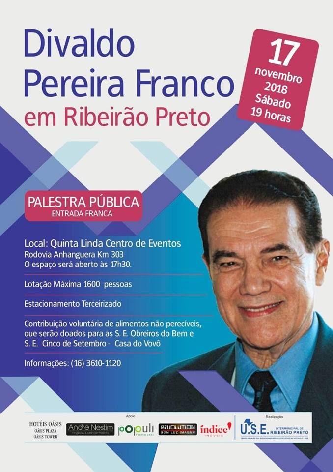 Divaldo Franco Palestra Sábado Em Ribeirão Preto Ribeirão