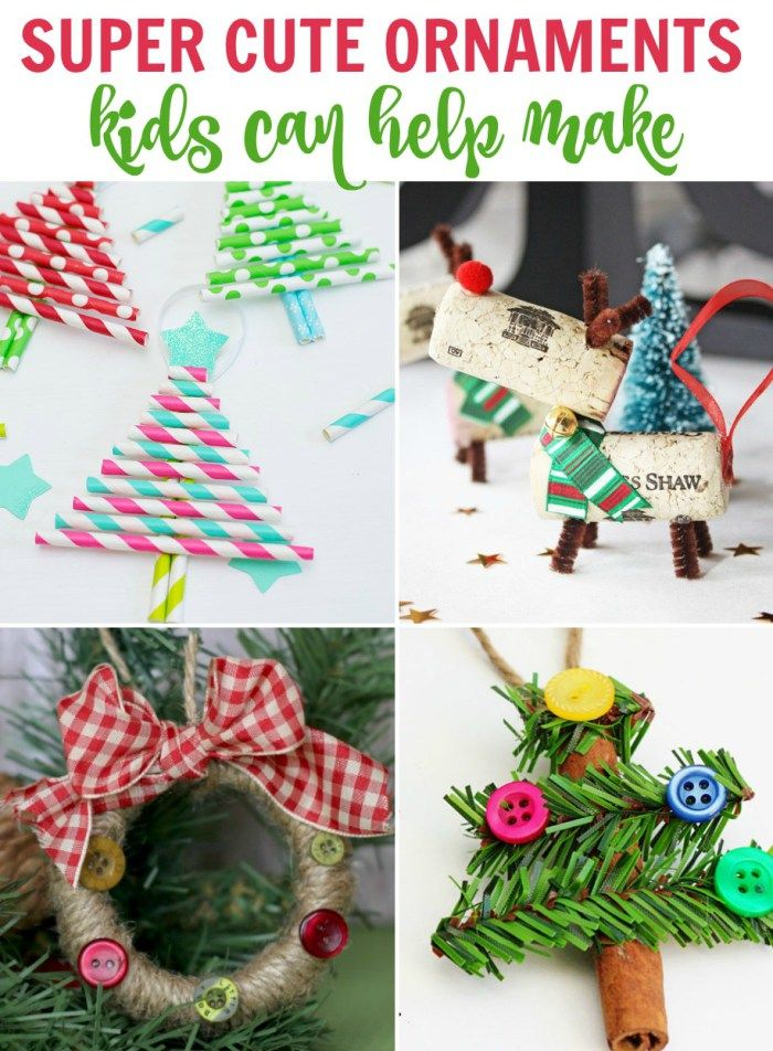 Handmade Ornaments Kids Can Make Christmas Pinterest Ornaments