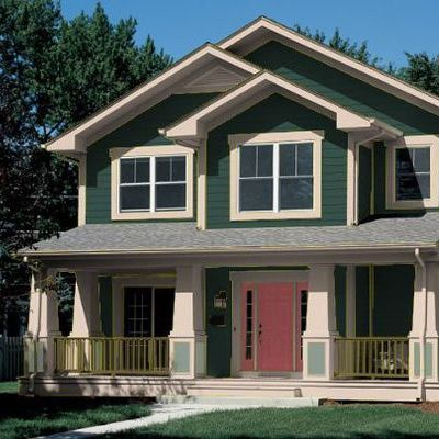 Hunter Green Exterior House Paint Ideas For Forest Dark