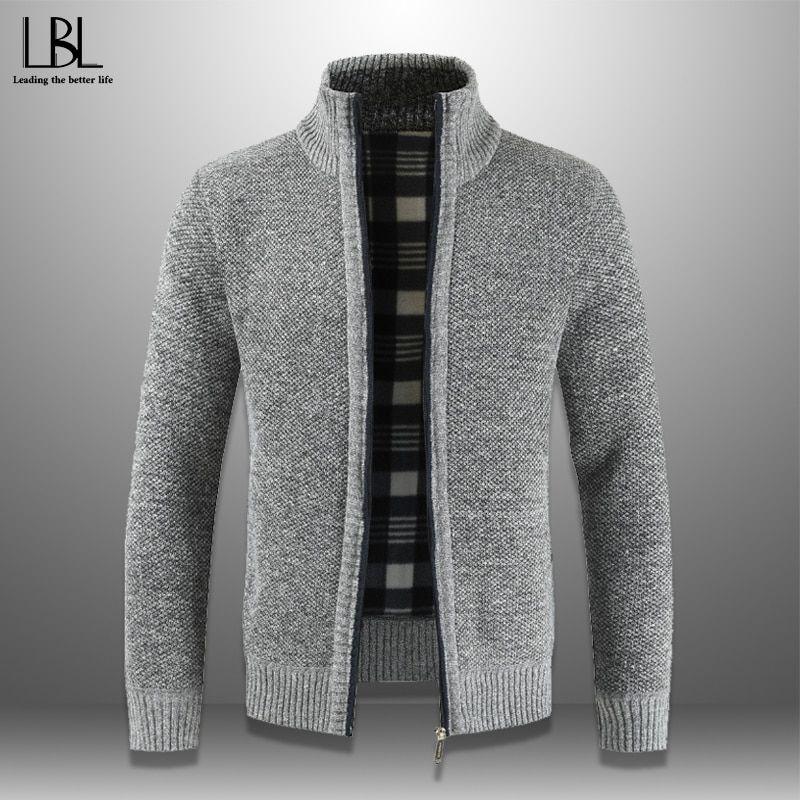 2019 Winter Men's Zipper Sweater Autumn Casual Thick