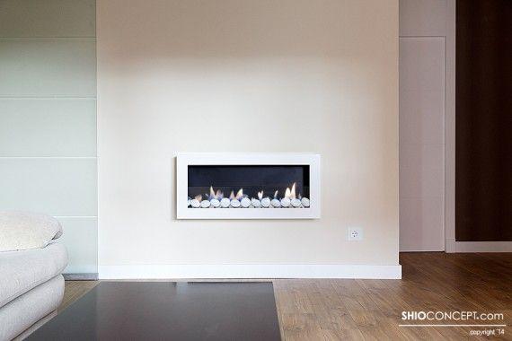 Chimenea de bioetanol de pared shio interiorismo - Chimenea bioetanol pared ...