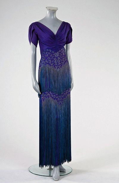 Mainbocher 1930s dress.