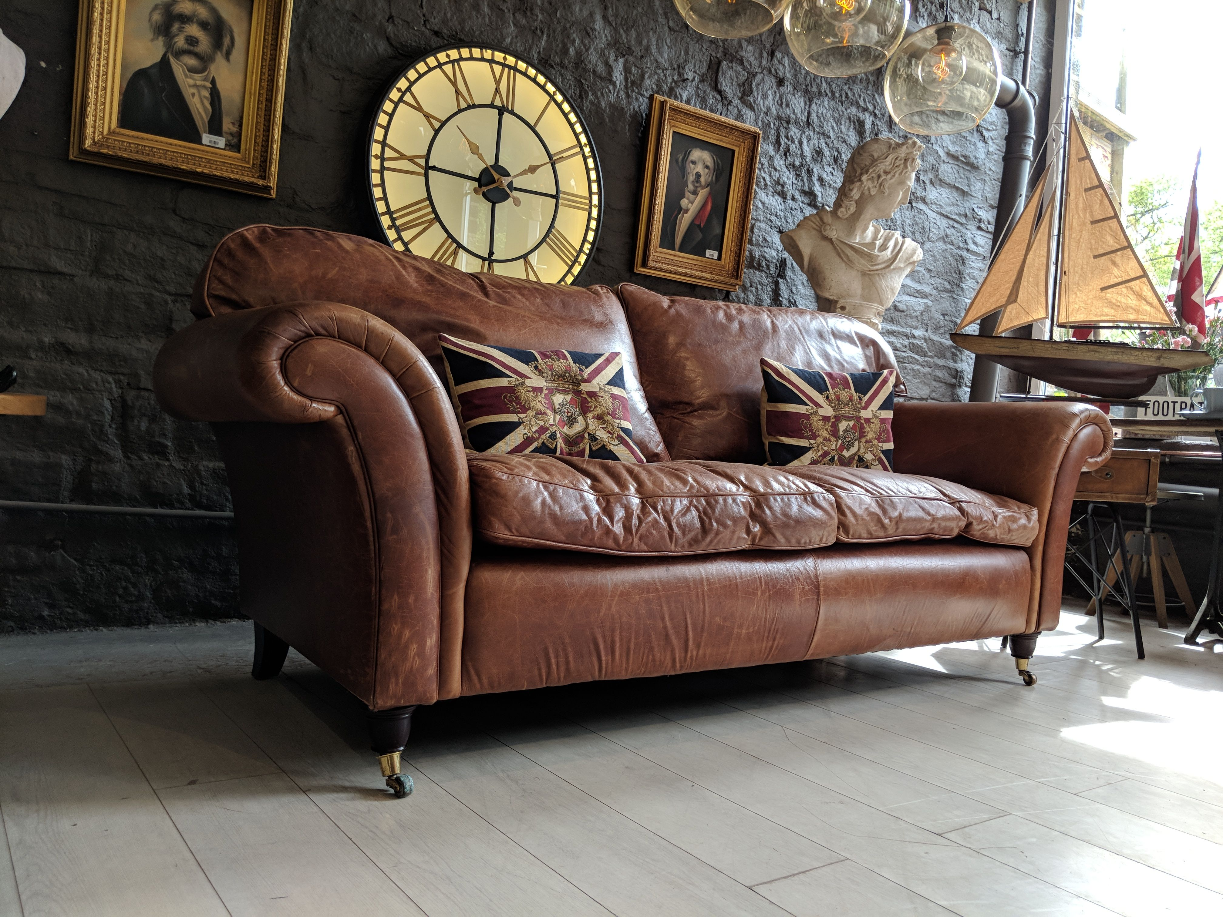 Chesterfield Vintage Laura Ashley Mortimer 3 Seater Sofa In