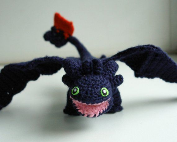 Dragon Crochet Pattern Toothless Amigurumi Pattern Night Fury
