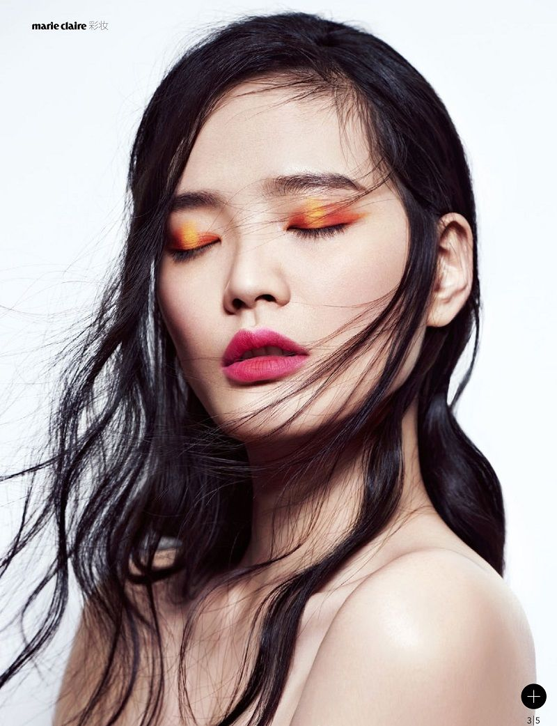 Model: Li Wei (Fusion) Editorial: Sunkiss Glitter Magazine: Marie Claire China, July 2015 Photographer: Ma Gang Stylist: Cui Menghan Hair: Wen Lie Makeup: Wang Qian