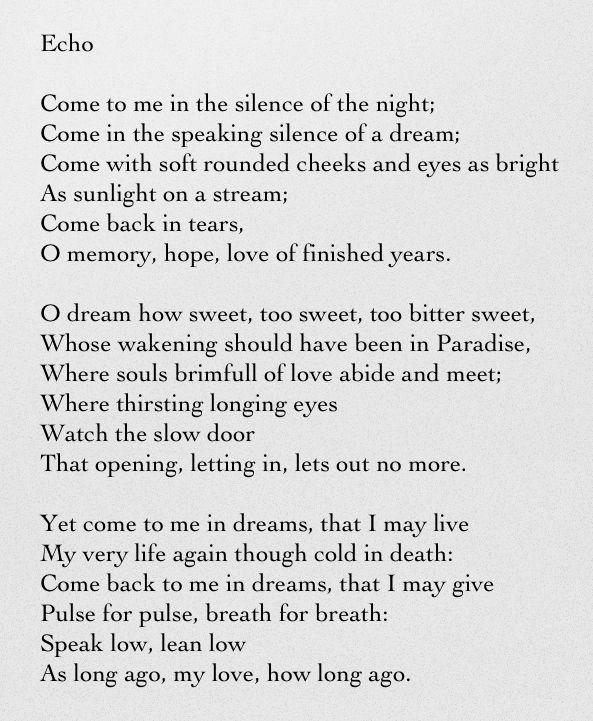 echo poem in english
