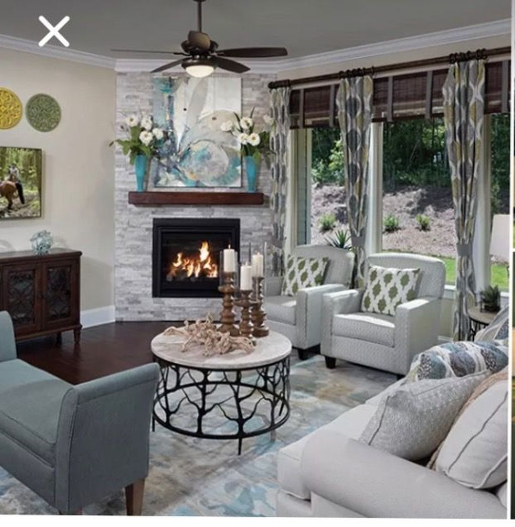 20+ The Best Corner Fireplace Ideas For Your Living Room ...