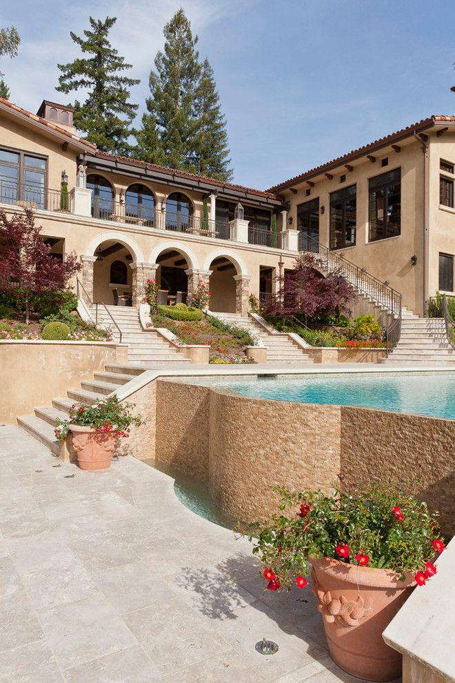 Mediterranean-Pool dream homes Pinterest House colors, House