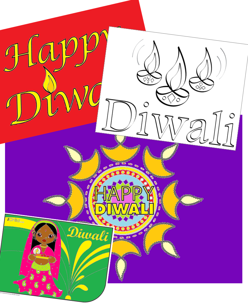 Choose From Lots Of Free Printable Diwali Card Templates To Send To Your Loved Ones This Diwali Download For Free From Diwali Activities Happy Diwali Diwali