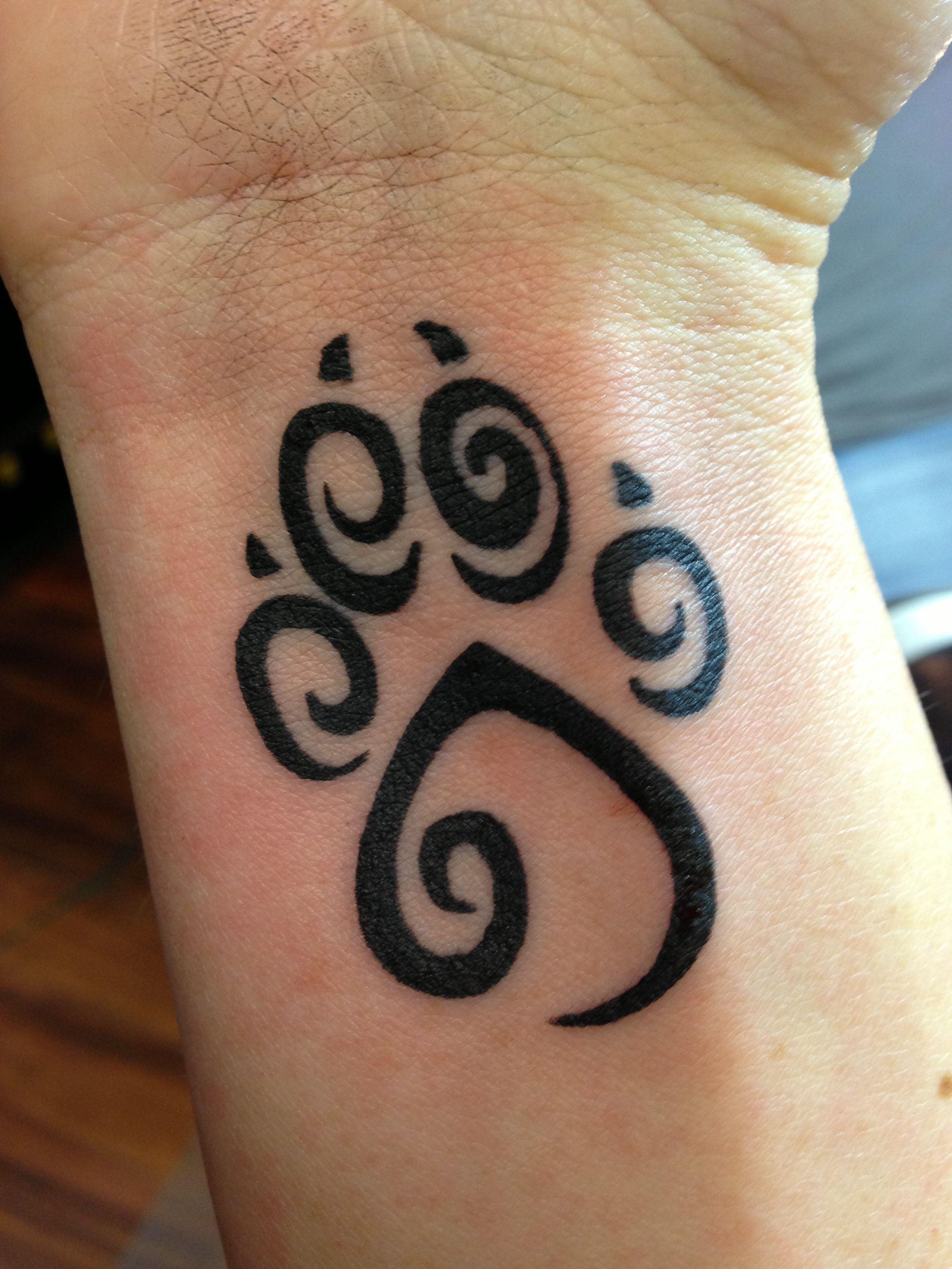 Paw Print Tattoo On Bottom Of Foot: Paw Print Tattoo For My Fur Babies.