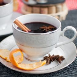 Mulled wine - easy, aromatic, and sure to warm you up. The perfect holiday drink. {recipe}