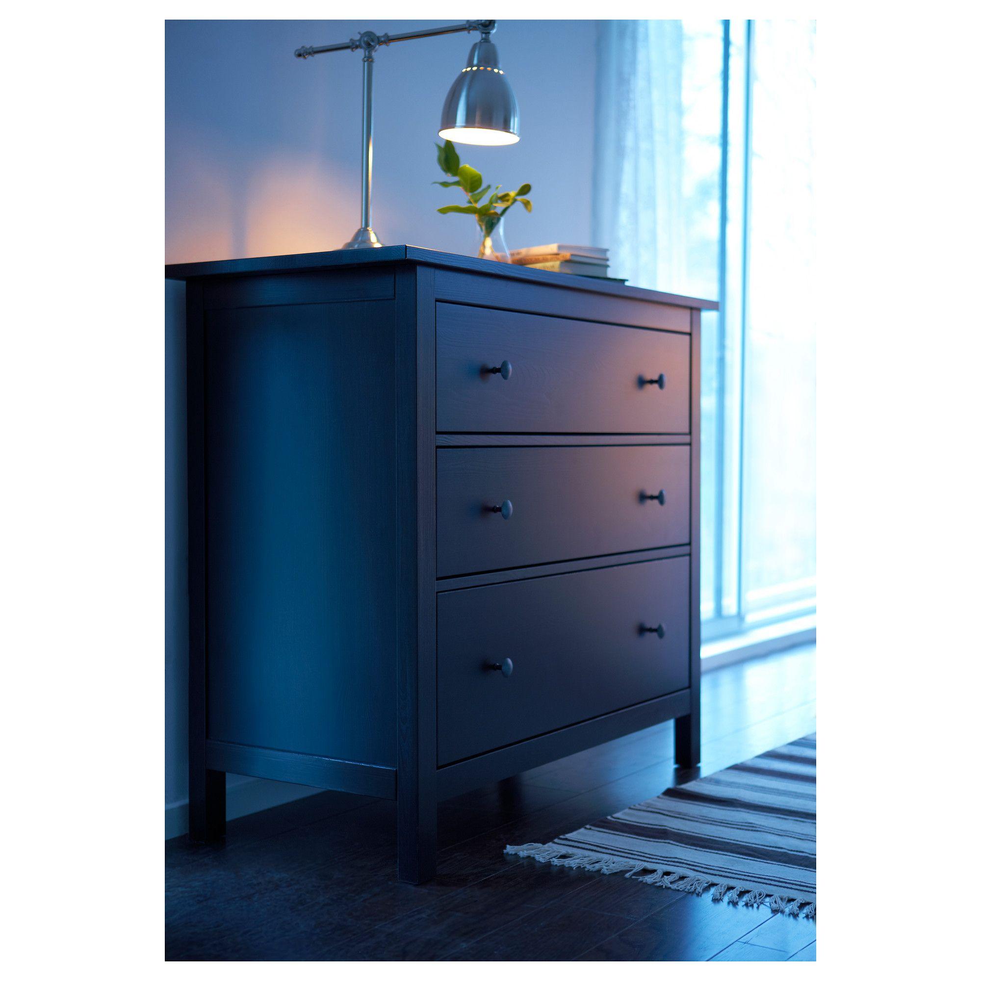 HEMNES Συρταριέρα με 3 συρτάρια - IKEA   Home   Pinterest