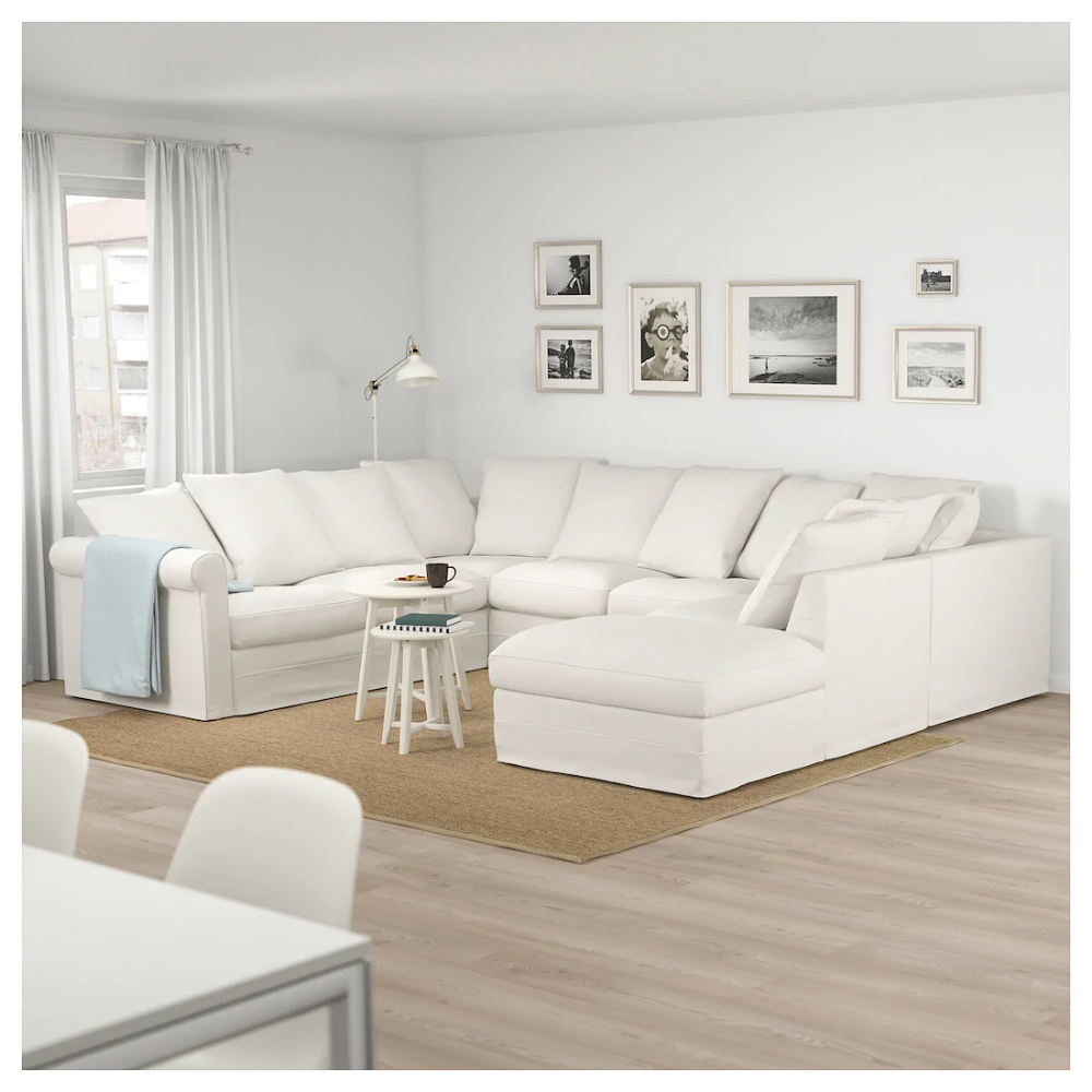 Gronlid U Shaped Sofa 6 Seat With Open End Inseros White Ikea U Shaped Sofa Best Leather Sofa Ikea Sectional
