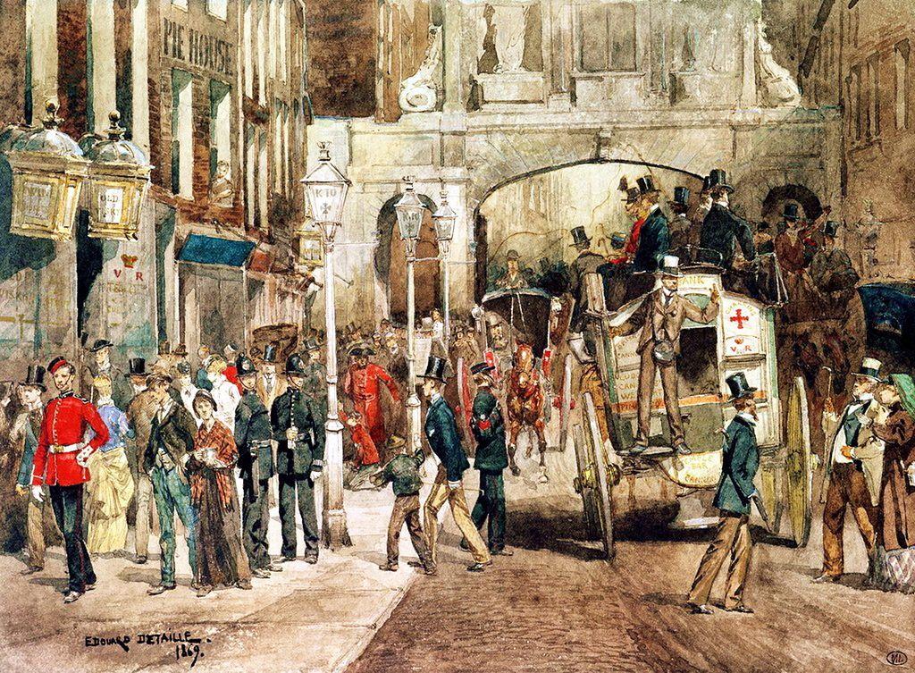 Edouard Detaille, 1869 .@@@@.....http://es.pinterest.com/svetazozulya/old-street-old-house-old-interior-old-time/