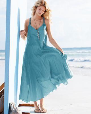 74ef44293b5 Womens Cotton-Gauze Long Dress - Garnet Hill - Customer in Texas rated 5  stars