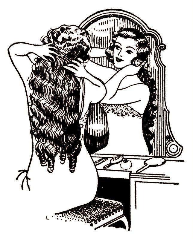 La Bande des Faineantes: Vintage Printable - Hair style - 1°