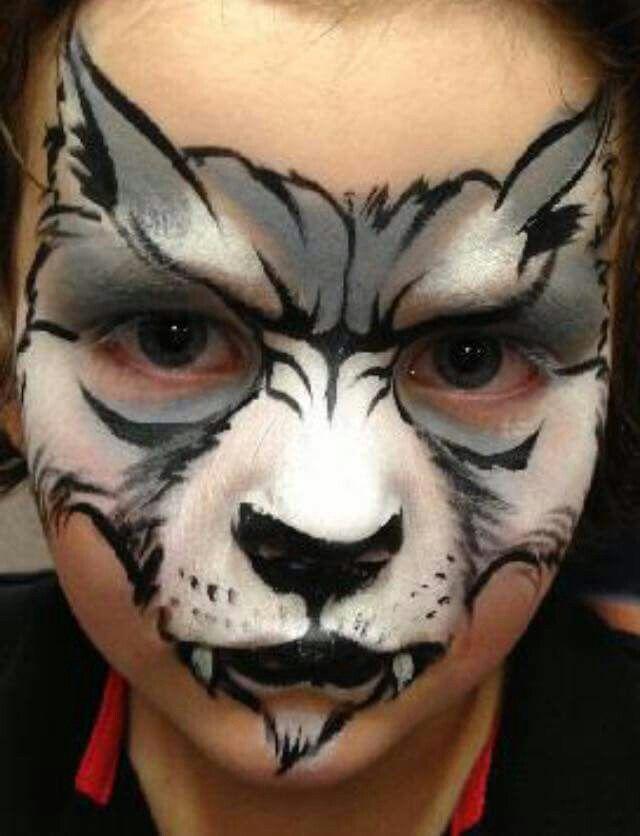 Christina Keep Davison Wolf Face Painting Design Jungen Schminken