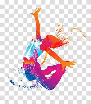 Hip Hop Dance Silhouette Dance Studio Jumping Woman Jumping Person Liquid Illustration Transparent Backgroun Dance Background Dance Logo Hip Hop Illustration