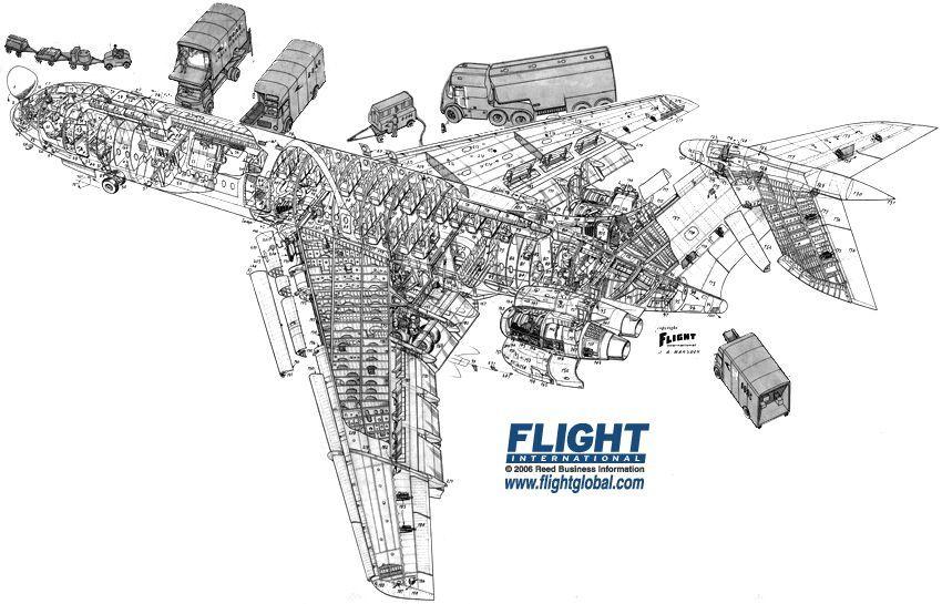 Pin em Airliner Cutaway Drawings