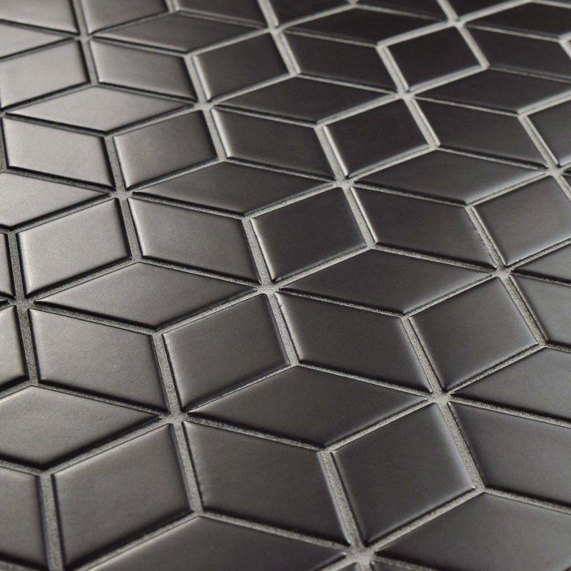 Retro Rhombus 2 X 3 Porcelain Mosaic Tile Porcelain Mosaic