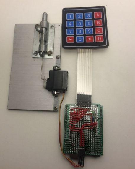 how to make a door with passwordf